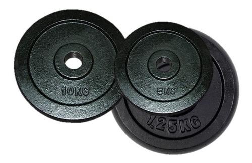 combo platos olimpicos rubber  de 1.25kg y 5kgs