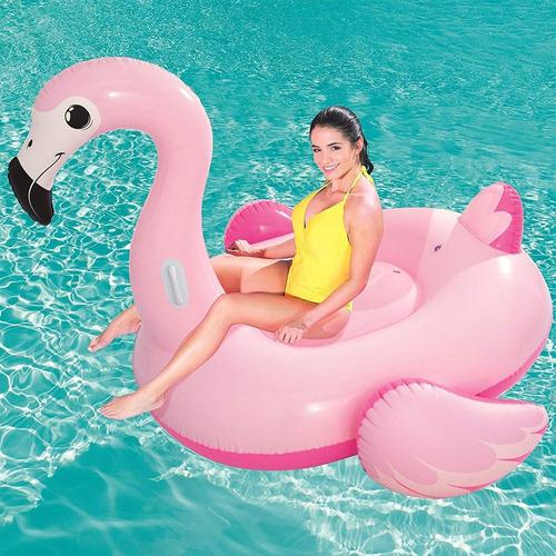 combo playa inflable flamingo 1,90 mts grande + inflador