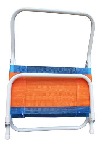 combo playa sombrilla 1,80mts + 4 sillas playeras