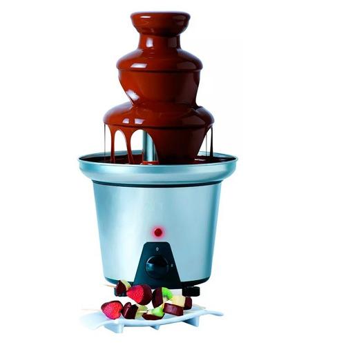 combo pochoclera retro grande y fuente cascada de chocolate