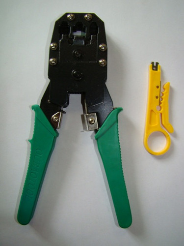 combo ponchadora para rj45, rj12 y rj11 con pela cable