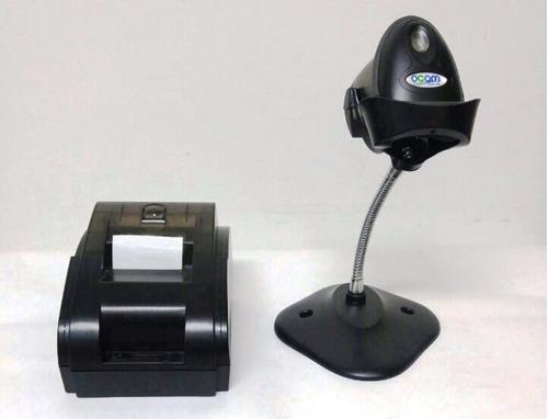 combo pos impresora termica 58mm lector con base