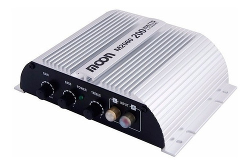 combo potencia auto moon 200w 2 canales 2 parlantes 6x9 tria