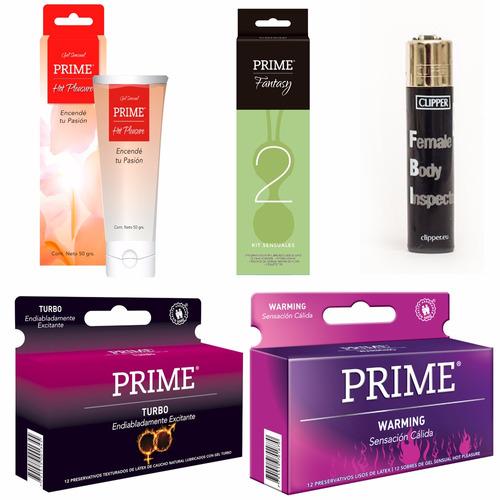 combo prime fantasy 2 + preservativos x24 + gel + regalo