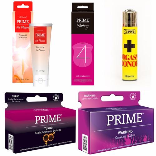 combo prime fantasy 4 + preservativos x24 + gel + regalo