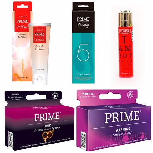 combo prime fantasy 5 + preservativos x24 + gel + regalo