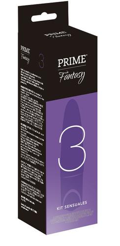 combo prime kit fantasy 3 vibrador + preservativos turbo x12