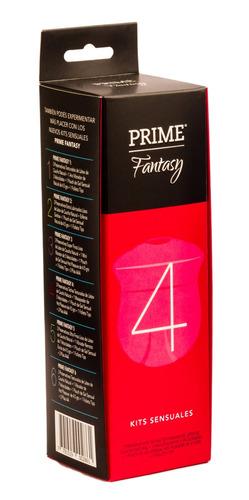 combo prime kit fantasy 4 masajeador + preservativos turbo