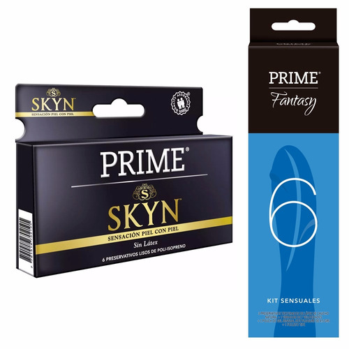 combo prime vibrador 7 velocidades + preservativos skyn x6