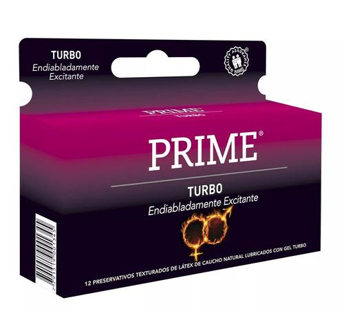 combo prime vibrador con control + preservativos turbo x12