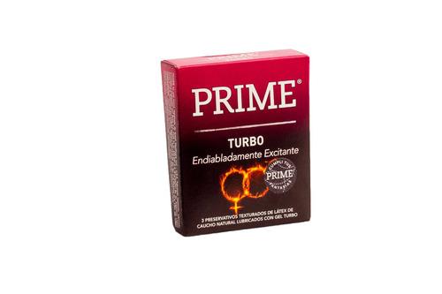 combo prime vibrador con control + preservativos turbo x3