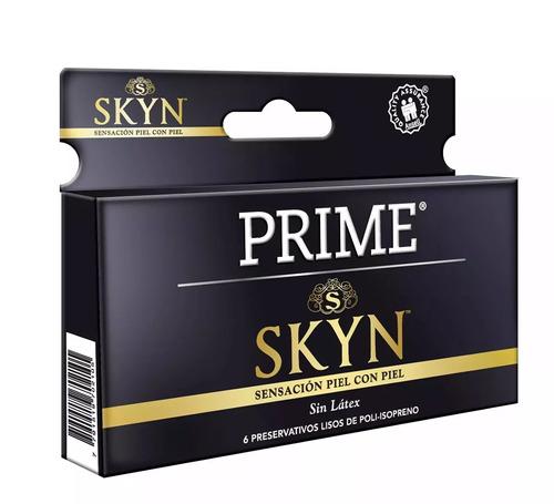 combo prime vibrador control remoto + preservativos skyn x6