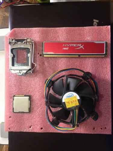 combo procesador, fancooler, memoria ddr3 y base procesador