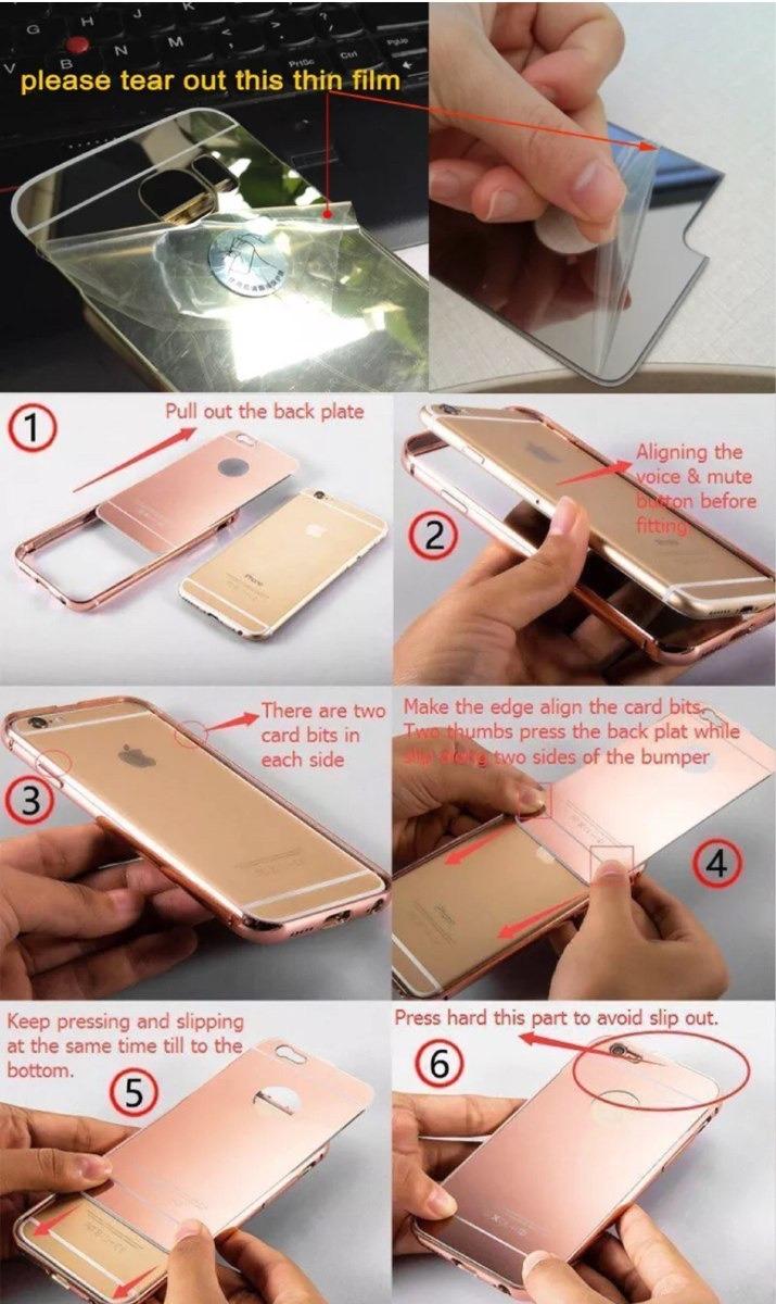 a8da9d399ea combo protector espejo + vidrio templado iphone 7 y 7 plus. Cargando zoom.