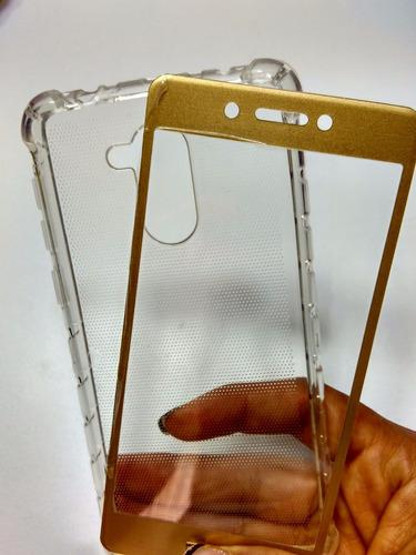combo protector huawei p9 lite smart + vidrio curvo