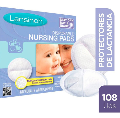 combo protectores de lactancia lansinoh | 108 unidades