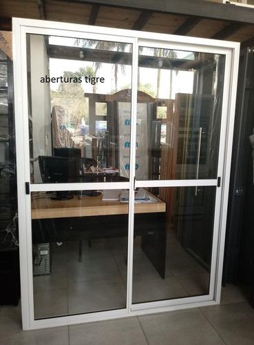 combo: puerta ventana balcón 1,50x2,00 mts mosquitero y reja