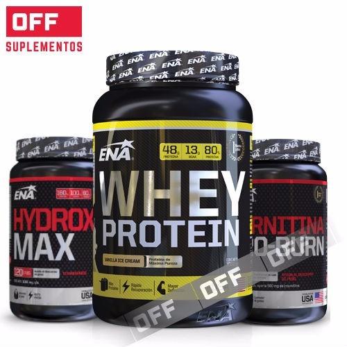 combo quema grasa ena. whey protein 1k+carnitina+hydroxy max