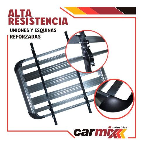 combo rack aluminio + barra para techo auto reforzado
