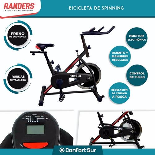 combo randers multigym  + bicicleta spinning + env #6