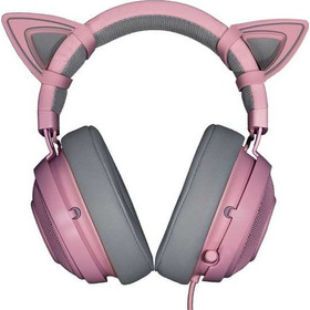 Combo Razer Kraken Pro V2 Quartz + Kitty Ears - Pc Ps4 Xone