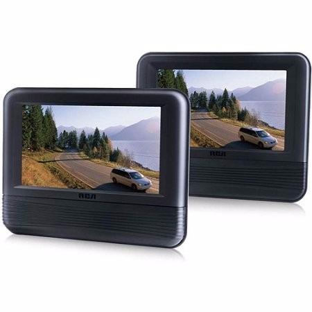 combo rca doble pantalla de 7 lcd dvd cabecera de auto