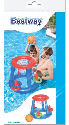 combo red voley arco basket + dona + 2 posa vasos pileta