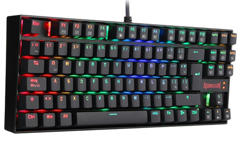 combo redragon teclado mecanico kumara rgb + mouse griffin