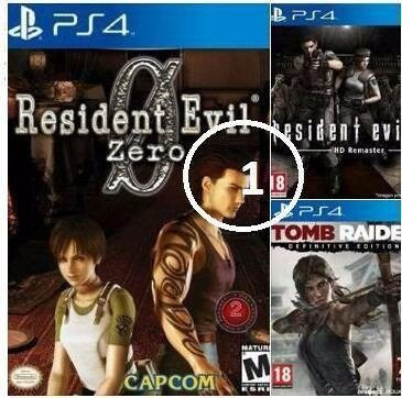 combo resident evil ps4 - digital son 5 juegos oferta