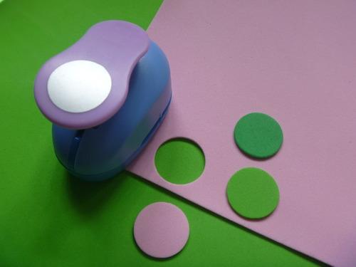 combo sacabocados 16mm, 25mm y 38 mm para goma o eva papel
