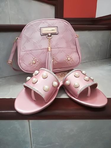 combo sandalias y bolso