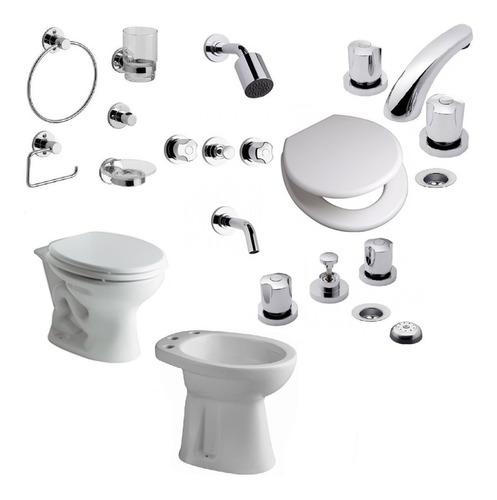 combo sanitarios ferrum griferias fv baño completo juego kit