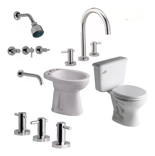 combo sanitarios griferias hydros ferrum andina baño ahora 12 y 18