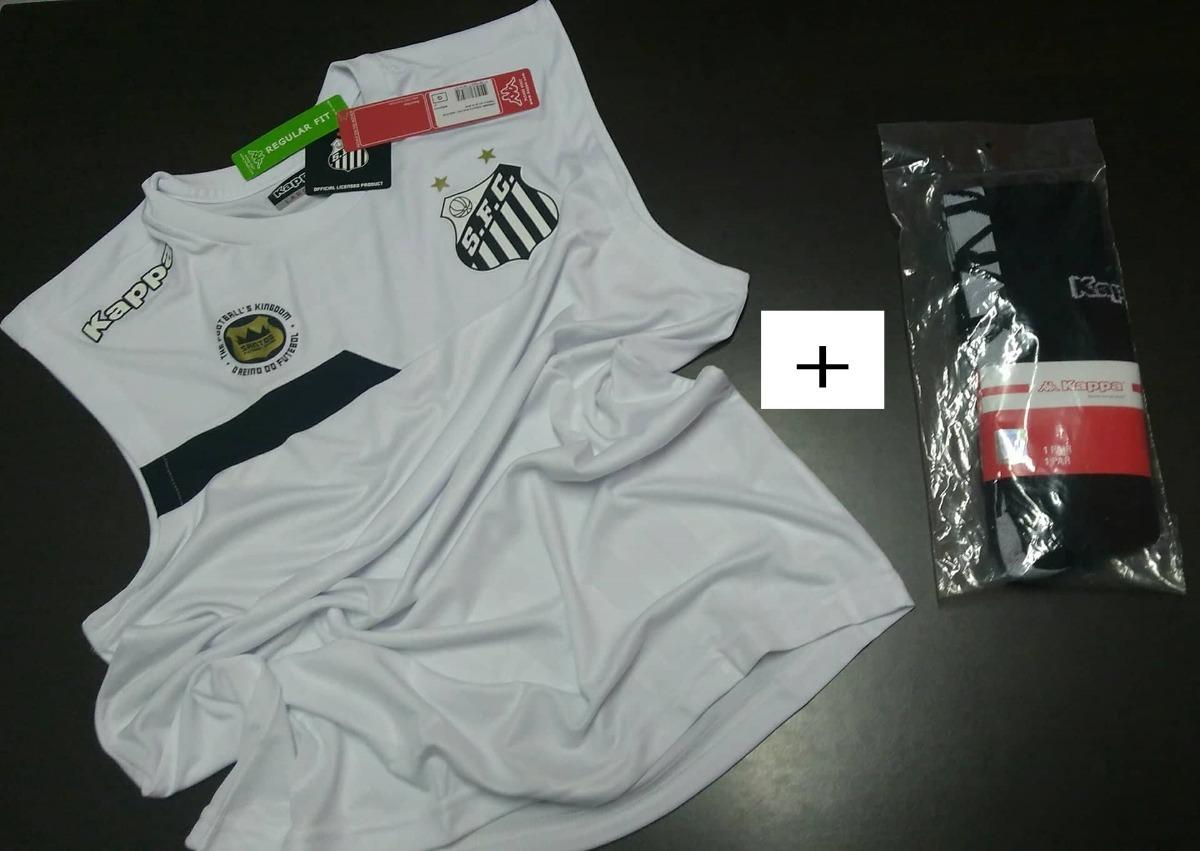 1849773187 Combo Santos Oficial Kappa 2016 ! Camisa Regata + Meiao - R  120