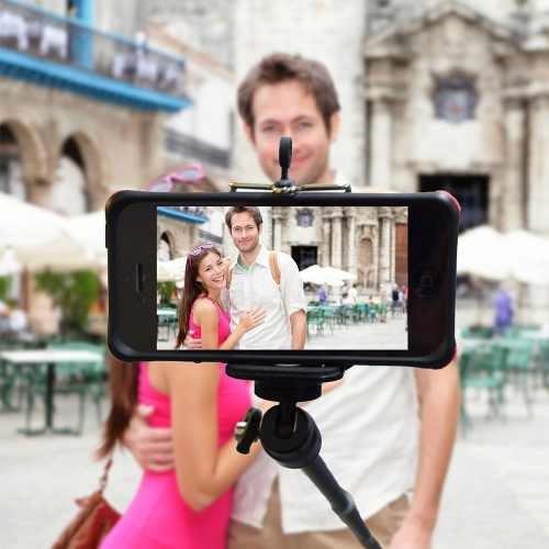 combo selfie monopod 1m+soporte universal celular camaras