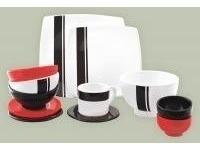 combo set 6 plato postre cuadrado diseño minimalista oferta!