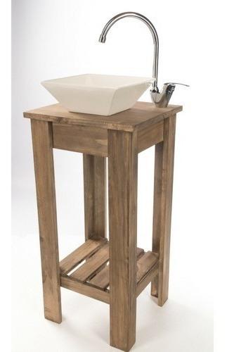 combo set completo bacha mati griferia vanitory 40cm baño