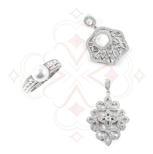 combo set de joyas combinables de acero quirurgico 316 l