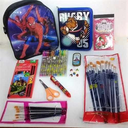 combo set escolar útiles mochila cartuchera lapices oferta!!