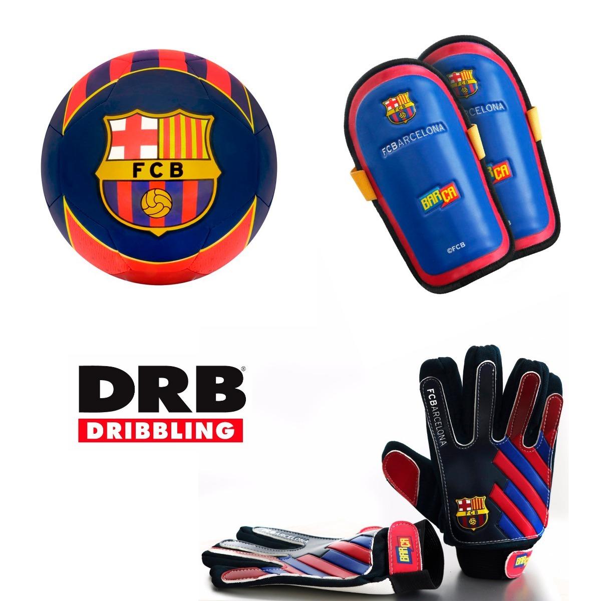 combo set futbol drb barcelona pelota guantes canilleras. Cargando zoom. 0549e1b60d4
