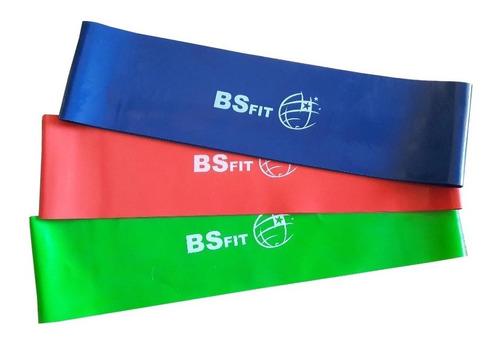combo set kit x 3 tiraband circular fitness 30cm banda bsfit