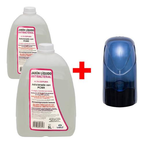 combo shampoo antibacterial manos 2 x 5lt + dispenser valot