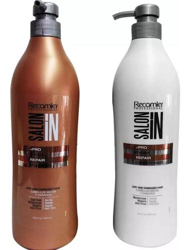 combo shampoo y acondicionador salon recamier 2 uds (ltrs)