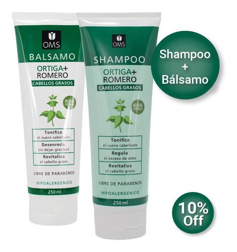 combo shampoo y balsamo ortiga romero extr naturales