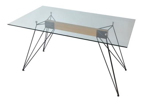 combo shidi mesa vidrio rectangular 160cm + 4 sillas eames
