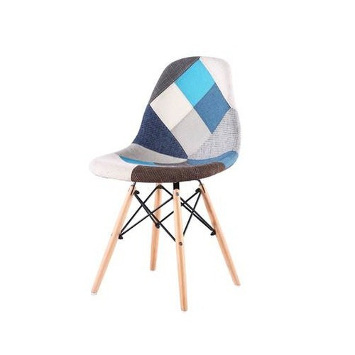 combo sillas acolchada patchwork x 4 uni + mesa redonda