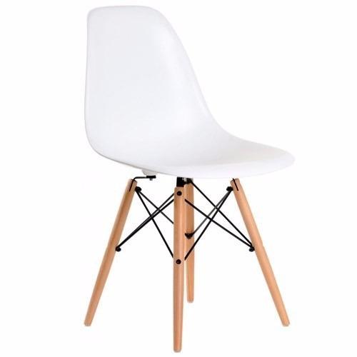 combo sillas eames x4 + 2 sillon eames  patas de madera