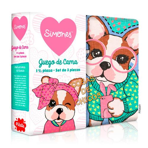 combo simones sabanas + cover cubrecama sofia orig piñata