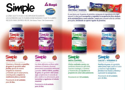 combo simple fibra + simple dieta control arcor bago
