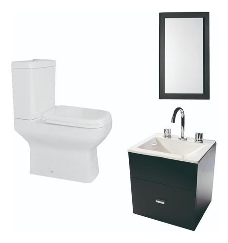 combo simple para baño inodoro vanitory 40cm espejo- cuotas